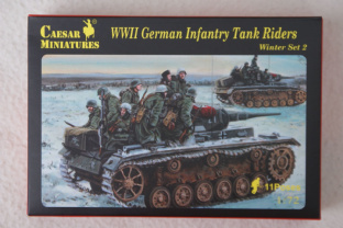 Caesar Miniatures 1/72 CMH079 German Infantry with Tank Riders Set 2 (WW2)